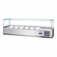 CaterCool opzetkoelvitrine 6x 1/4 GN m/glasopzet