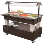 Rollergrill buffet-unit gekoeld