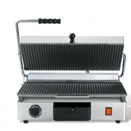Milan-toast contact grill rib, rib, gietijzer medium rvs 18/10