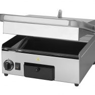 Milan-toast contact grill rib, rib, glas keramisch medium rvs 18/10