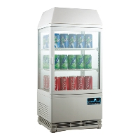 CaterCool opzetkoelvitrine met verlicht display wit 58 liter
